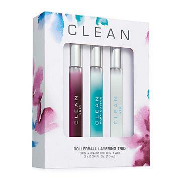 Clean Women's Perfume Rollerball Gift Set
