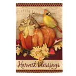 "Evergreen ""Harvest Blessings"" Indoor / Outdoor Garden Flag"