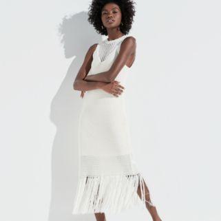 k/lab Fringe Midi Sweater Dress