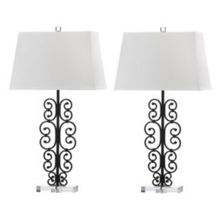 Safavieh Bennett Scroll Table Lamp 2-piece Set
