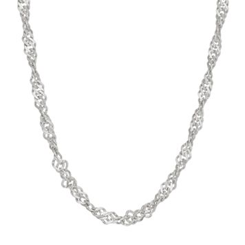 Sterling Silver Disco Chain Necklace - 18 in.