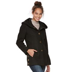 Women's Apt. 9® Faux-Wool Hooded Jacket
