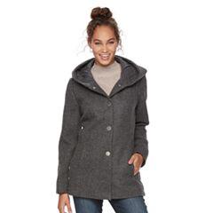 Women's Apt. 9® Faux-Wool Hooded Jacket