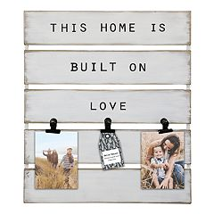Belle Maison 'Home' 3-Opening Photo Clip Fashion Collage Frame