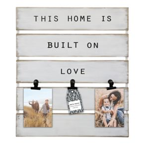 "Belle Maison ""Home"" 3-Opening Photo Clip Fashion Collage Frame"