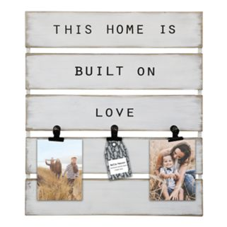 """Belle Maison """"Home"""" 3-Opening Photo Clip Frame"""