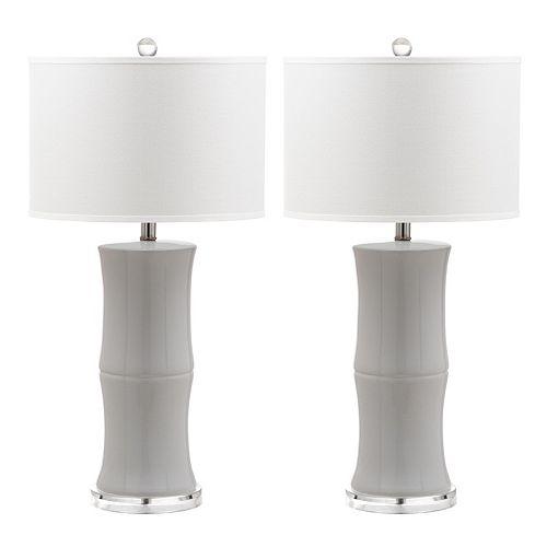 Safavieh Faux Bamboo Table Lamp 2-piece Set