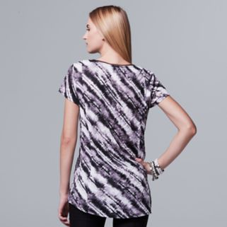 Women's Simply Vera Vera Wang Print High-Low Tee