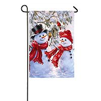 Evergreen Snowman Indoor / Outdoor Garden Flag