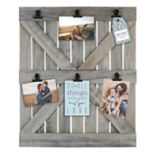 Belle Maison Wood Door 6-Opening Photo Clip Frame