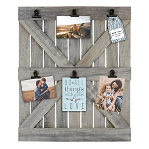 Belle Maison Wood Door 6-Opening Photo Clip Fashion Collage Frame