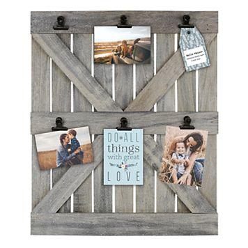 Belle Maison Wood Door 6-Opening Photo Clip Frame