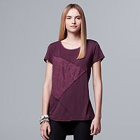 Women's Simply Vera Vera Wang Spliced Jacquard Tee