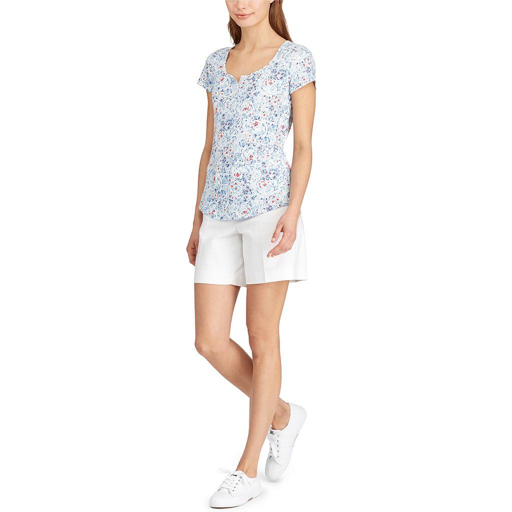 Petite Chaps Stretchy Cotton Shorts