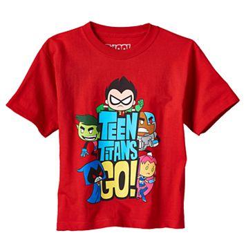 Boys 4-7 Teen Titans Robin, Starfire, Beast Boy, Raven & Cyborg Graphic Tee