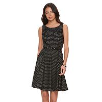 Women's' ELLE™ Circle Jacquard Fit & Flare Dress