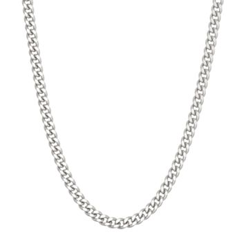 Sterling Silver Curb Chain Necklace - 16 in.