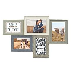 Belle Maison Rustic 5-Opening Fashion Collage Frame