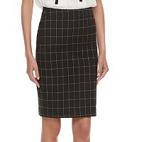 Women's ELLE™ Grid Pull-On Pencil Skirt