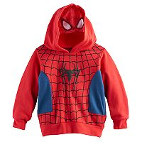 Toddler Boy Marvel Spider-Man Mesh Face Zip Hoodie