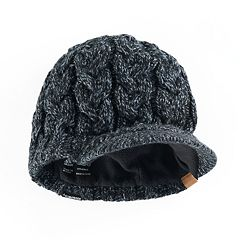 Women's adidas Crystal Marled Chunky Cable Knit Brimmer Beanie