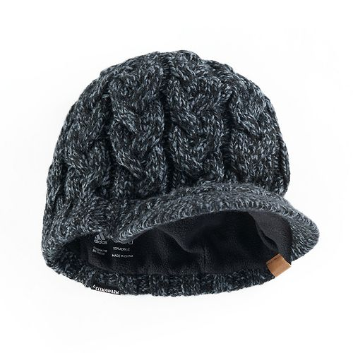 75057154947 Women s adidas Crystal Marled Chunky Cable Knit Brimmer Beanie