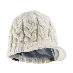 Women's adidas Crystal Chunky Cable Knit Brimmer Beanie