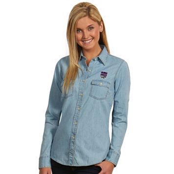 Women's Antigua Sacramento Kings Chambray Shirt