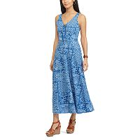 Petite Chaps Seashell Maxi Dress