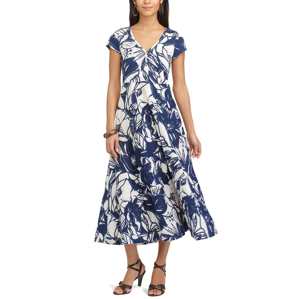 Petite Chaps Floral Midi Dress