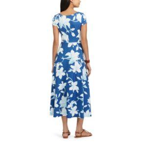 Petite Chaps Floral Fit & Flare Dress