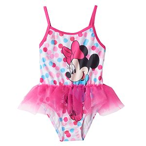 Disney's Minnie Mouse Baby Girl Graphic One-Piece Swimsuit!