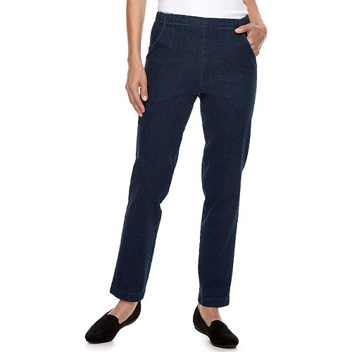 Women's Croft & Barrow® Classic Pull-On Tapered-Leg Jeans