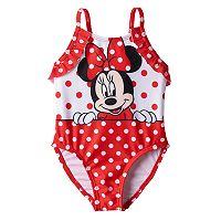 Disney's Minnie Mouse Baby Girl Polka-Dot One-Piece Swimsuit