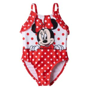 Disney's Minnie Mouse Baby Girl Polka-Dot One-Piece Swimsuit