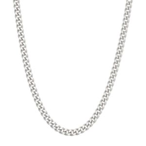 Sterling Silver Curb Chain Necklace - 18 in.