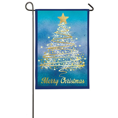 """""""Merry Christmas"""" Tree Indoor / Outdoor Garden Flag"""
