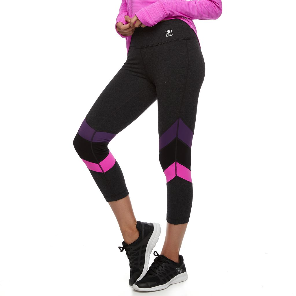 Women's FILA SPORT® Tri-Color Capri Leggings
