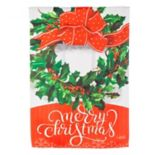 """Evergreen """"Merry Christmas"""" Wreath Indoor / Outdoor Garden Flag"""