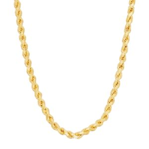 14k Gold Over Silver Rope Chain Necklace - 30 in.