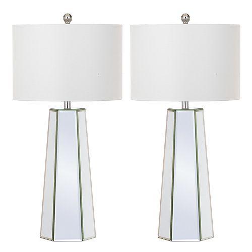 Safavieh Janice Mirrored Table Lamp 2-piece Set