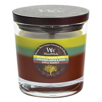WoodWick Tri-Pour Salted Caramel Apple 10.5-oz. Candle Jar