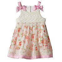 Baby Girl Nannette Lace Floral Bodysuit Dress
