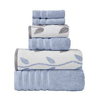 Pacific Coast Textiles Vines 6-piece Yarn Dyed Organic Bath Towel Set