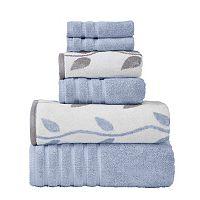 Pacific Coast Textiles Vines 6 pc Yarn Dyed Organic Bath Towel Set
