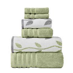 Pacific Coast Textiles Vines 6-piece Yarn Dyed Organic Bath Towel Set