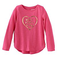 Girls 4-10 Jumping Beans® Foiled Graphic High-Low Hem Tee