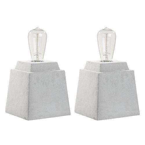 Safavieh Concrete Table Lamp 2-piece Set