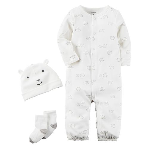 Baby Carter's Hedgehog Coverall, Hat & Socks Set