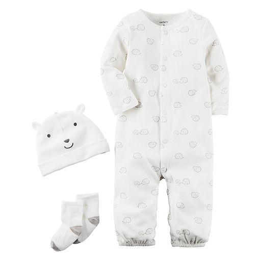 Baby Carter's Hedgehog Coverall, Hat & Socks Set